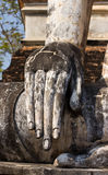 Buddha Old hand in Sukhothai Historic Park Royalty Free Stock Photos