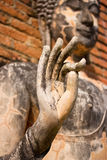 Buddha Old hand in Sukhothai Historic Park Stock Photo