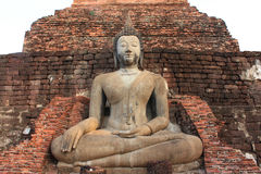 Buddha old a temple is Mahatad , Sukothai Thailand Stock Photos