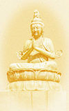Buddha. An old vintage photograph of a Buddha statue with grain added Stock Images
