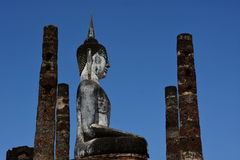 Buddha old in Wat Yai Phitsanulok, Thailand. Stock Photography