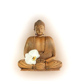 Buddha with Orchid Flower Royalty Free Stock Photos