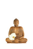 Buddha with Orchid Flower Stock Photos