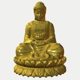 Buddha - oro Imagenes de archivo