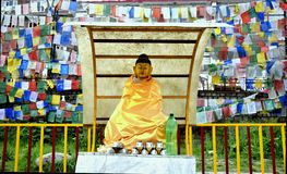 Buddha Outdoors. The statue of Buddha in the gardens of Thekchhokling Gompa Monastery Royalty Free Stock Photos