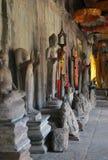 Buddha på Angkor Wat Arkivbild