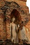 Buddha på bågen av pagoden Royaltyfri Fotografi