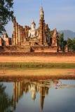 Buddha på den THAILÄNDSKA srisatchanalaisukhothaien Arkivfoto