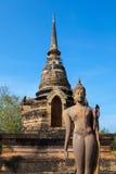 Buddha på den THAILÄNDSKA srisatchanalaisukhothaien Arkivbild