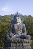 Buddha på Seoraksan i Korea Fotografering för Bildbyråer