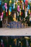 Buddha på stenen Royaltyfria Foton