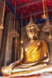 Buddha på Wat Kalayanamit, Bangkok, Thailand Arkivfoto