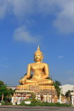 Buddha på Wat In Kanlaya Arkivbild