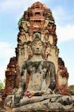 Buddha på Wat Phra Mahathat Royaltyfri Bild