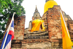 Buddha på Wat Yai Chai Mongkhon Royaltyfria Foton