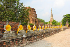 The Buddha and The pagoda, Ayutthaya Royalty Free Stock Images