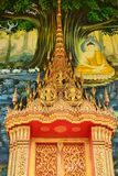 Buddha painting on wall in temple. Painting on church wall,thai temple, Samut Songkhram Province,Thailand Royalty Free Stock Photography