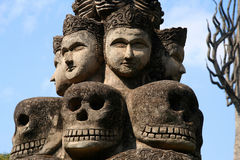 Buddha Park. Scary sculptures in Buddha Park near Vientiane in Laos Royalty Free Stock Photo