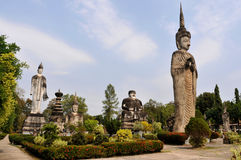 Buddha park in laos royalty free stock photography