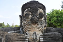 Buddha park in laos royalty free stock photo