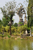Buddha park in laos royalty free stock images