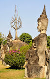 Buddha park in laos Stock Photo
