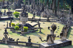 Buddha park in laos stock image