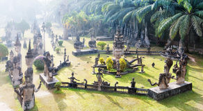 Buddha park.Tourist attraction and public park in Vientiane Laos Stock Photos