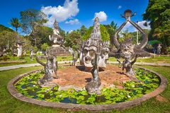 Buddha park, Vientiane, Laos Royalty Free Stock Image