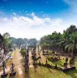 Buddha park in Vientiane, Laos. Famous travel tourist landmark Stock Photo