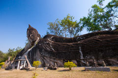 Buddha park in Vientiane, Laos. Famous travel tourist landmark o Royalty Free Stock Image