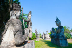 Buddha-Park in Vientiane, Laos Touristischer Markstein O der berühmten Reise Stockbild