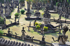 Buddha park w Laos Obraz Royalty Free