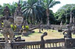 Buddha parkerar i Laos Royaltyfri Foto