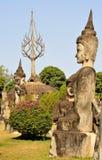 Buddha parkerar i Laos Arkivfoto