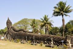 Buddha parkerar i Laos Arkivbild