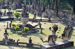 Buddha parkerar i Laos Fotografering för Bildbyråer