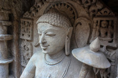 BUddha at Patan Step well Royalty Free Stock Photo