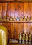 Buddha on Pattern detail of teak gold royalty free stock photo