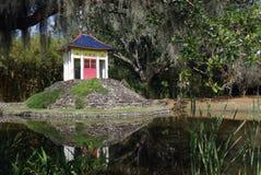 buddha paviljong Arkivfoto