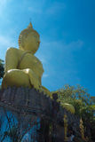 Buddha. Pay to buddha statue on beautiful sunshine day and Commemorate the Buddha's teachings Royalty Free Stock Images