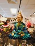 Buddha per un natale tre fotografie stock libere da diritti
