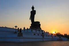 buddha phutthamonthonstaty Fotografering för Bildbyråer