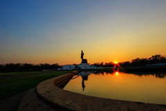 buddha phutthamonthonstaty Royaltyfri Bild
