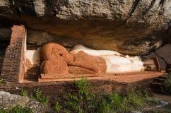 Buddha at Pidurangala Rock. Reclining Buddha at Pidurangala Rock, Sigiriya, Sri Lanka Stock Photography