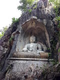 Buddha in pietra Immagini Stock