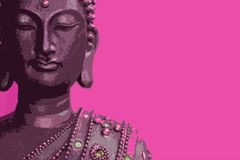 buddha pink stock illustrationer