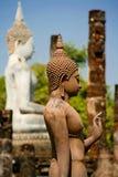 buddha plattform sukhotai thailand Royaltyfri Foto