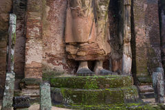 Buddha in Polonnaruwa temple - medieval capital of Royalty Free Stock Photo