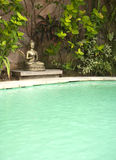 Buddha by Pool Stock Image